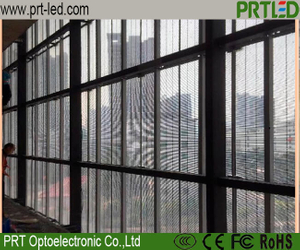 Full Color Glass Transparent LED Display for Outdoor Indoor Advertising (P3.9, P7.8)