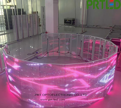 Full Color Round LED Wall Display Panel with Good Transparent for Advertising Indoor (P3.91, P7.8, P15.625)