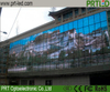 P25 High Transmission Full Color Transparent LED Billboard for Building Glass Wall