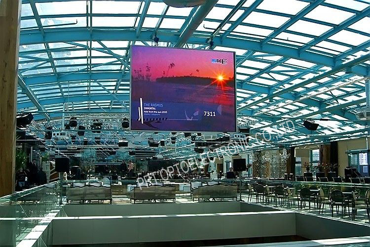 P7.62 Full Color Stage Background Screen LED Video Wall (732X732mm board)