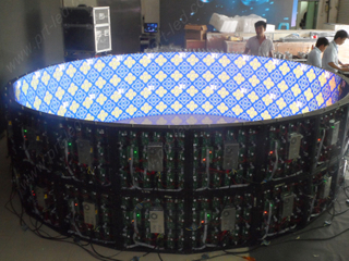 Customized Curved Display 360 LED Screen (indoor P6)