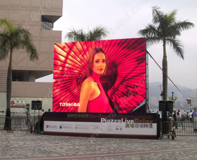 P8.928 Outdoor Rental Full Color LED Display with Board 500X500mm/500X1000mm