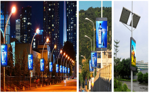 HD P5 Outdoor LED Display for Street Poles (advertising display)