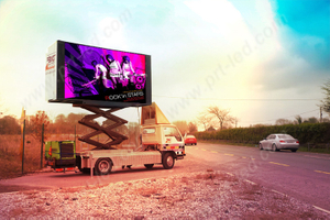 Outdoor P10 Full Color LED Screen on Trailer