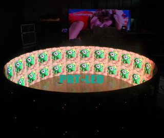 Customized Indoor P6 Full Color 360 Degree Curved LED Display for advertising