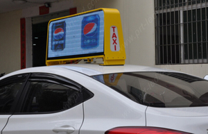 Mobile P5 Outdoor Advertising Display on Car/Taxi Top