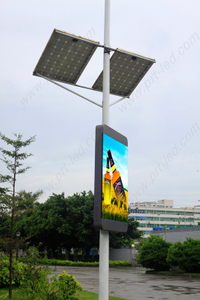 P4 Full Color Lighting Pole LED Display for Street
