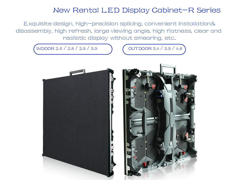 Indoor LED Video Wall with Front/Rear Accessed Panel 500 X500mm (P2.6, P2.8, P2.9 P3.91, P4.81)
